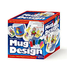 Create Your Own Mug Design Set - Childrens Paint Mug with Marker Pens Craft Kit