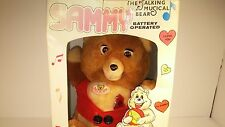 Sammy The Talking Musical Bear Teddy Ruxpin Face Battery Operated Bear Works