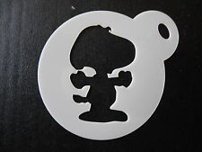 Laser cut small snoopy design cake, cookie,craft& face painting stencil