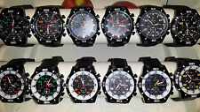 Job lot 24 pcs Mens Boys Black Sport GT Watches new wholesale - lot R