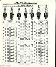1960 ADVERT 9 Page Champion Spark Plug Racing Outboard Motor Price List
