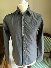 Men's Scotch & Co Shirt Long Sleeved Blue Pinstriped Size Small