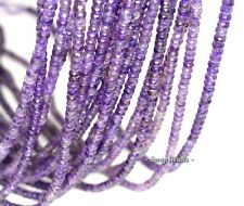 4X3MM ROYAL DARK AMETHYST GEMSTONE FACETED RONDELLE 4X3MM LOOSE BEADS 7.5""