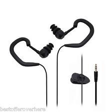 IPX8 Waterproof Hook Style In-ear 3.5mm Plug Stereo Wired Earphone for Sports