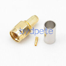 RP-SMA male RF connector adapter female pin crimp RG142 RG400 LMR195 RG58 Cable