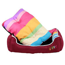 New Soft Puppy Dog Cat Pet Bed Home House Nest Cushion Blanket Mat Basket Red