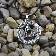 Antico Argento PLT ORNATA Triquetra ciondolo collana Trinity Knot, celtica pagane