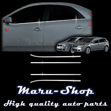Chrome Door Window Sill Belt Line Cover Tirm for 08~13 Kia Forte/Cerato 4DR/5DR