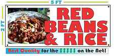 Full Color RED BEANS AND RICE BANNER Sign NEW XL Larger Size