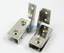 4 Pieces Cabinet Glass Pivot Door Hinge Clamps For 5-8mm Glass Door