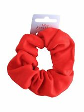 Coloured Soft Jersey Hair Scrunchie Bobble Elastic - Choice of Colours