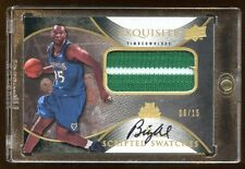 2007 EXQUISITE AL JEFFERSON AUTO PATCH LOGO #D /15 SCREPTED SWATCHES SUPER RARE