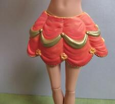 Barbie Princess Gold Rose Ribbon PLASTIC Doll Skirt