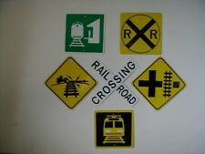 METAL RAILROAD MINI  traffic signs SET of 6 Signs  FREE SHIPPING