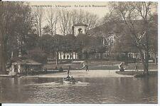 CPA 67 - ESTRASBURGO - L'Orangerie - el Lago y el restaurantes