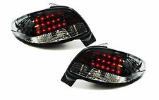 Black clear glass finish tail lights LED rear lights for Peugeot 206 98-06