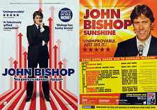 2 X JOHN BISHOP TOUR FLYERS 2014 SUPERSONIC & 2011 TOUR - COMEDY COMEDIAN