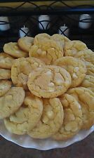 LEMON WHITE CHOCOLATE CHIP COOKIES, HOMEMADE, 2 DOZEN, DELICIOUS!!!