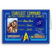 Personalised Name & Photo Starfleet Command Star Trek Birthday Christmas A5 Card
