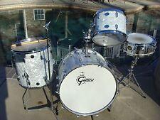 Vintage Gretsch Drum Set 1970s White Marine Pearl 70s Kit