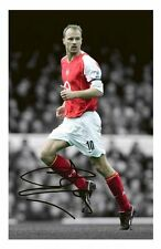 DENNIS BERGKAMP - ARSENAL AUTOGRAPHED SIGNED A4 PP POSTER PHOTO