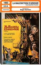 FICHE CINEMA : LA MALEDICTION D'ARKHAM Price,Paget,Corman1963 The Haunted Palace