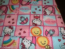 HELLO KITTY FABRIC BABY FABRIC colorful PATCH HELLO KITTY CAT BTY BRAND NEW