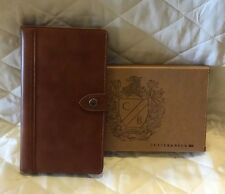 New Cutter Buck Document/Pass Port Holder Brown Leather Nice Credit Card Holder