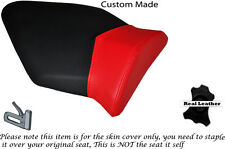 DESIGN 2 BLACK & RED CUSTOM FITS BMW S 1000 RR 09-13 REAR LEATHER SEAT COVER