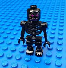 Lego Castle Black Skeleton with Snake Head Minifigure Minifig Kingdoms Ninjago