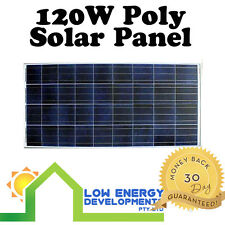 "New 120 Watt 12v Polycrystalline Solar Panel 120W Premium Quality 6"" Cells"