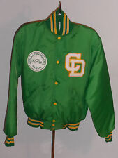 VINTAGE 1986 CHAMPION TRACK JACKET! HOLLOWAY! GREEN NYLON! QUILTED LINING! M