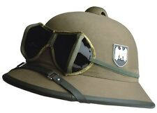 WH Tropenhelm + Brille DAK Uniform Afrikakorps Tropical Helmet with Glasses WWII