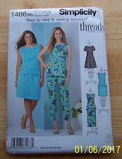 Simplicity Threads Magazine Collection Sewing Pattern #1466 BB 20W-28W