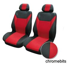FRONT RED BLACK FABRIC SEAT COVERS FOR NISSAN MICRA QASHQAI NOTE JUKE MPV ALMERA