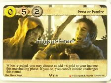 A Game of Thrones LCG - 1x Feast or Famine  #054 - Westeros Draft Pack Starter