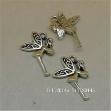 15pc Tibetan Silver angel Charm Beads Pendant accessories Findings  PL541