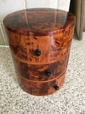 Hand Made Drum Shape Thuya Wood Jewellery Box