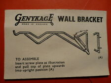 NEW OLD GENYKAGE WALL BRACKET FOR CAGES VERY NICE AND QUALITY VINTAGE 30's-40's