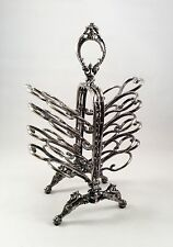 Antique Victorian Silver Plated Silverplated Ornate Toast Rack Holder Circa 1880