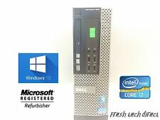 Dell Optiplex 990 SFF Intel i7-2600 - 3.40GHz 4GB 320GB Windows 10 Home x64
