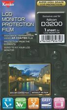 186437 KENKO LCD SCREEN PROTECTION FILM FOR NIKON D3200 NEW