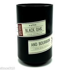 Black Oak And Bourbon Scented Candle Wood Wick Makers of Wax Goods Man Cave