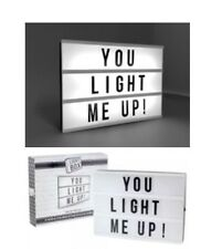 Light Box A4 Cinema Sign Wedding Party Gift 85 Mixed Letter Included