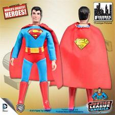 JUSTICE LEAGUE OF AMERICA SUPERMAN; 8 INCH FIGURE NEW IN POLYBAG RETRO MEGO