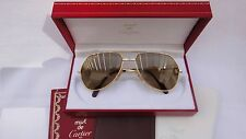 NEW VINTAGE CARTIER SANTOS SCREWS 56MM SUNGLASSES 18K GOLD HEAVY PLATED