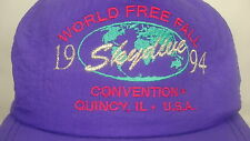 World Free Fall Convention Quincy Illinois 1994 Skydive Purple Snapback Hat