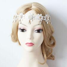fleur & pendentif Reine Couronne Lacets Gothique Punk Bandeau Tête Mariage