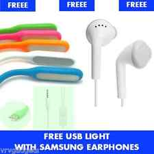 Original Samsung EHS61ASFWE Headphones With 3.5mm Jack & Mic + Free USB Light