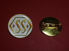 JAGUAR SS100 (pre Jaguar name) GOLD PLATED PIN BADGE + FREE PHONE STICKER